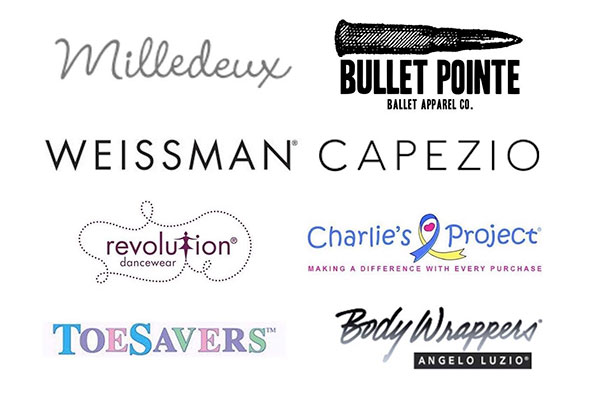 Milledeux, Bullet Pointe, Weissman, Capezio, Revolution, Charlie's Project, Toesavers, Body Wrappers